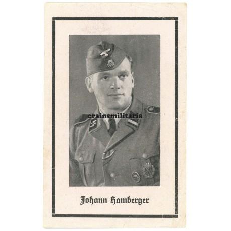 SS Death card with CCC - Poland 1944