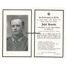 SS Polizei Panzerjäger death card