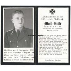SS Wiking Panzerjäger death card
