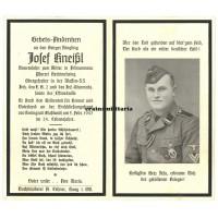 Decorated SS Polizei death card