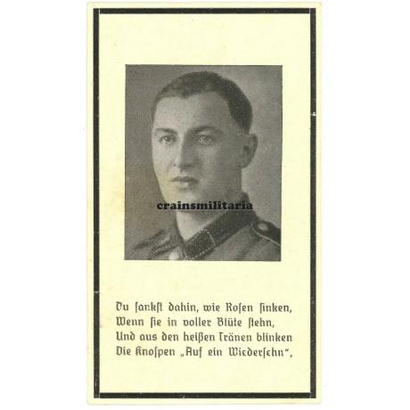 LSSAH Death card - Dieppe raid 1942