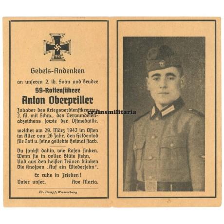 SS Polizei death card Leningrad 1943