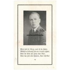 SS Death card - Hungary / Vienna 1944