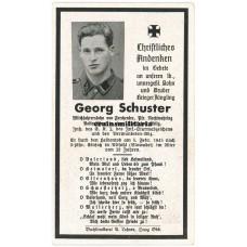SS Death card - Slovakia 1945