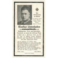 SS Gebirgsjäger Death card - Partisans