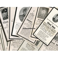 Lot of 50 German death cards