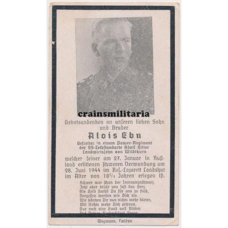 LSSAH Panzer death card