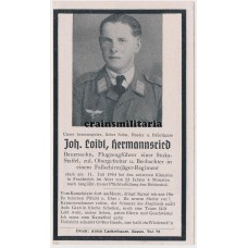 Fallschirmjäger Normandy death card