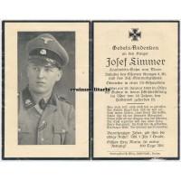 SS Totenkopf cavallery death card