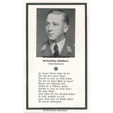 Luftwaffe death card - Eifel 1944