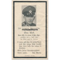 SS Polizei death card Holland